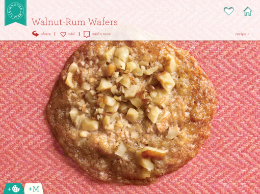 walnut rum wafers