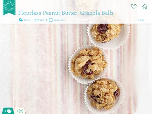 Flourless Peanut Butter Granola Balls