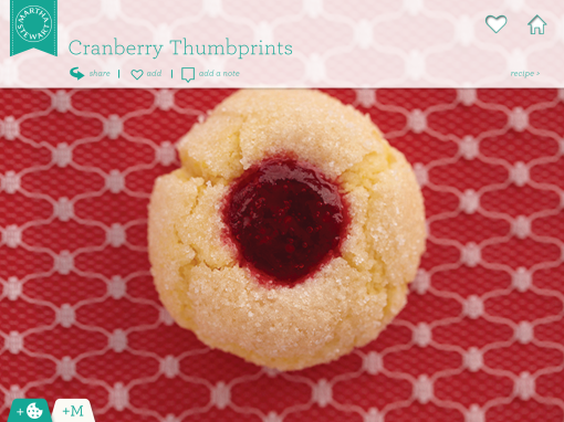 cranberry thumbprints