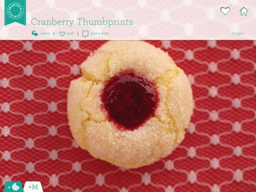 cranberry thumbprints