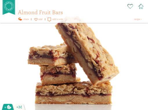 Almond Fruit Bars